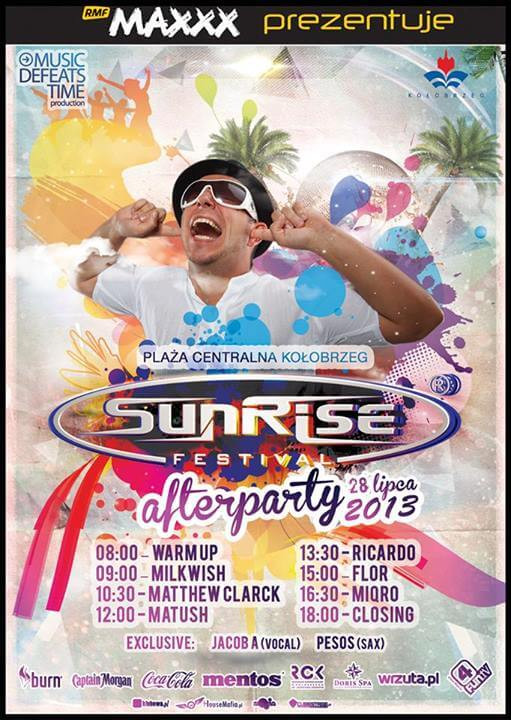 Timetable na AfterParty # Sunrise Festival 2013