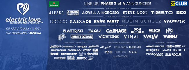 Alesso - Electric Love Festival - Austria (09.07.2015)