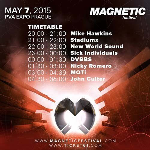 Magnetic Festival 2015 - Prague Lineup, Timetable