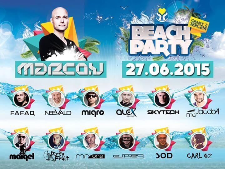 Beach Party Trzcianka LINEUP 2015