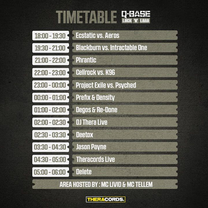 Q-BASE Lock 'N Load - (12.09.2015) Airport Weeze TIMETABLE DJS