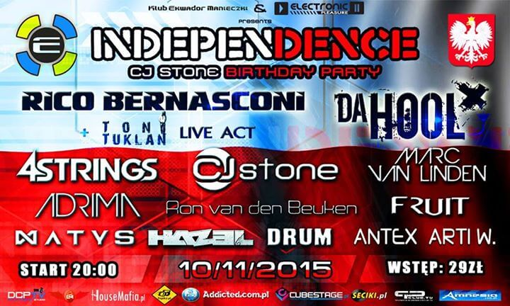 C.J.STONE, ADRIMA, FRUIT - Independence Day Ekwador Manieczki 10.11.2015