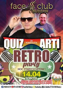 Face Club, Budzyń - DJ Quiz, DJ ARTI (14.04.2018)