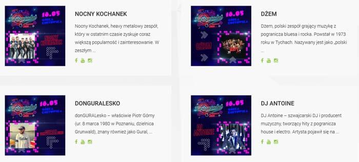 Zobacz kto zagra/wystąpi na Kortowiada 2018