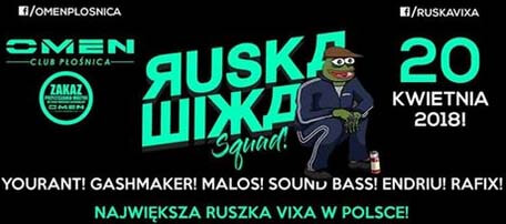 YOURANT LIVE w OMEN CLUB PŁOŚNICA (RUSKA VIXA) 20.04.2018