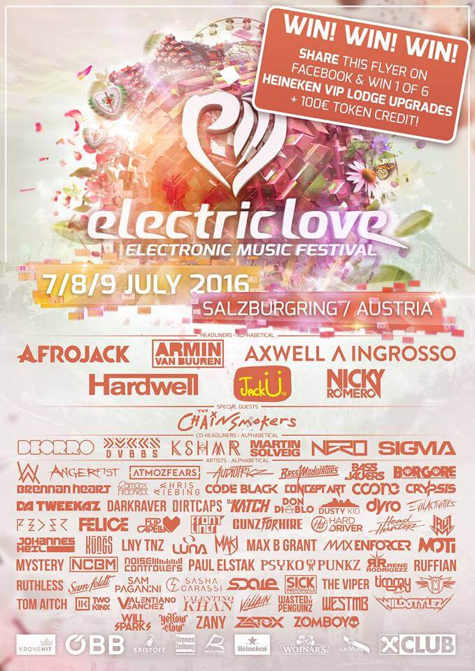 Electric Love Festival 2016 - FULL LINEUP DJ and TIMETABLE