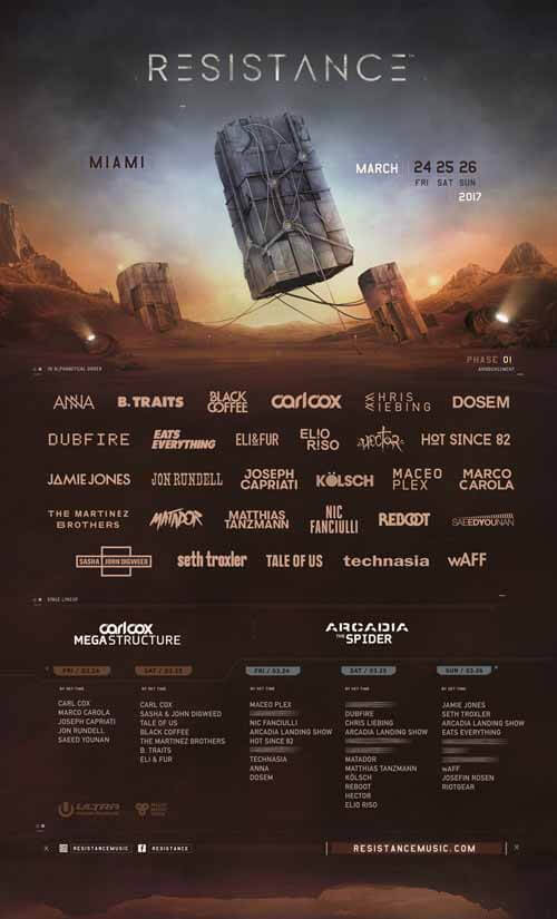 LINEUP Resistance - Ultra Miami 2017