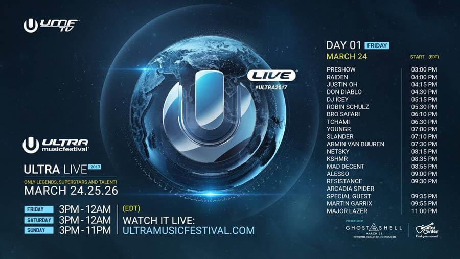 TIMETABLE STREAM - DAY 1 - ULTRA MIAMI