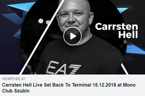 Carrsten Hell Live Set Back To Terminal 15.12.2018 at Mono Club Szubin