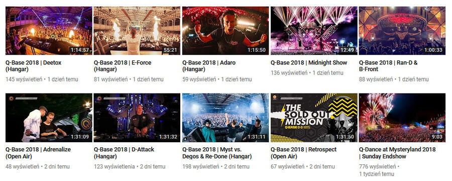 Q-BASE 2018 - LIVE VIDEO - Deetox, E-Force, Adaro, Adrenalize