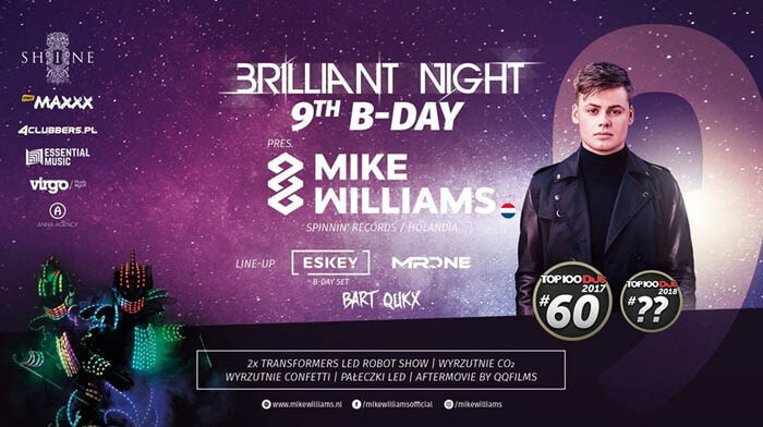 Shine Club Kraków - Mike Williams 17.11.2018