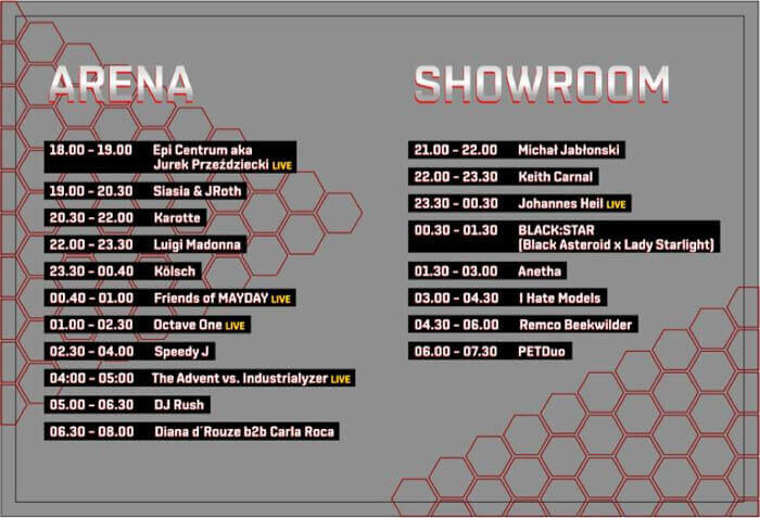 Mayday Poland - Timetable DJs 2018
