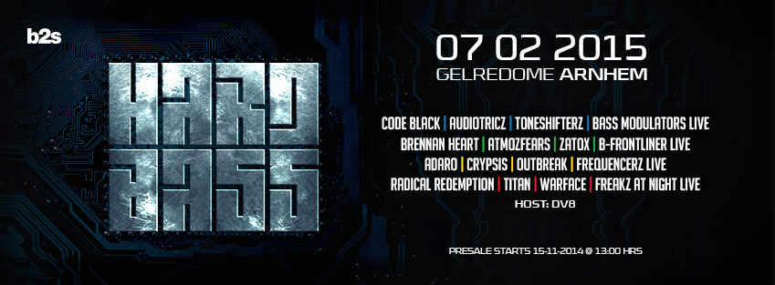 Hard Bass 2015 - EVENT, Gelredome, Arnhem - 07.02.2015