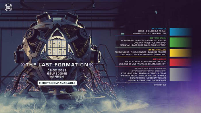 Hard Bass 2019 (GelreDome) Official Full Lineup DJ's